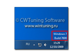 WinTuning 7: Программа для настройки и оптимизации Windows 7 / 10 / 8 - Отображать версию Windows в нижнем правом углу